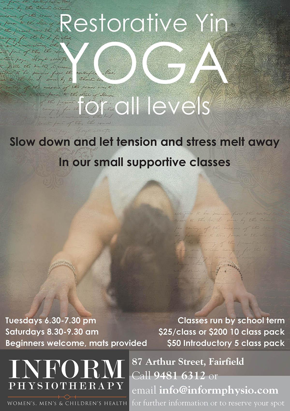 Yin Yoga - image restorative-yoga-flyer-A5-blend on https://informphysio.com